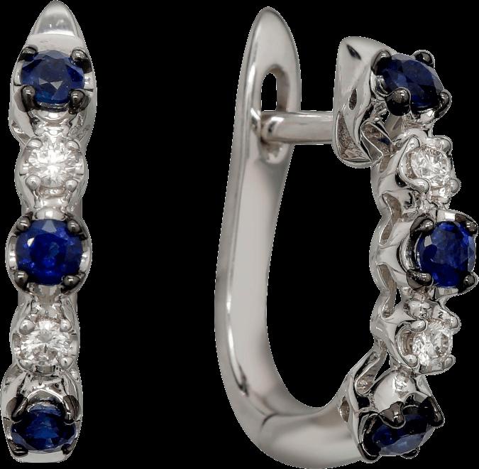Гарнитур с сапфирами и бриллиантами