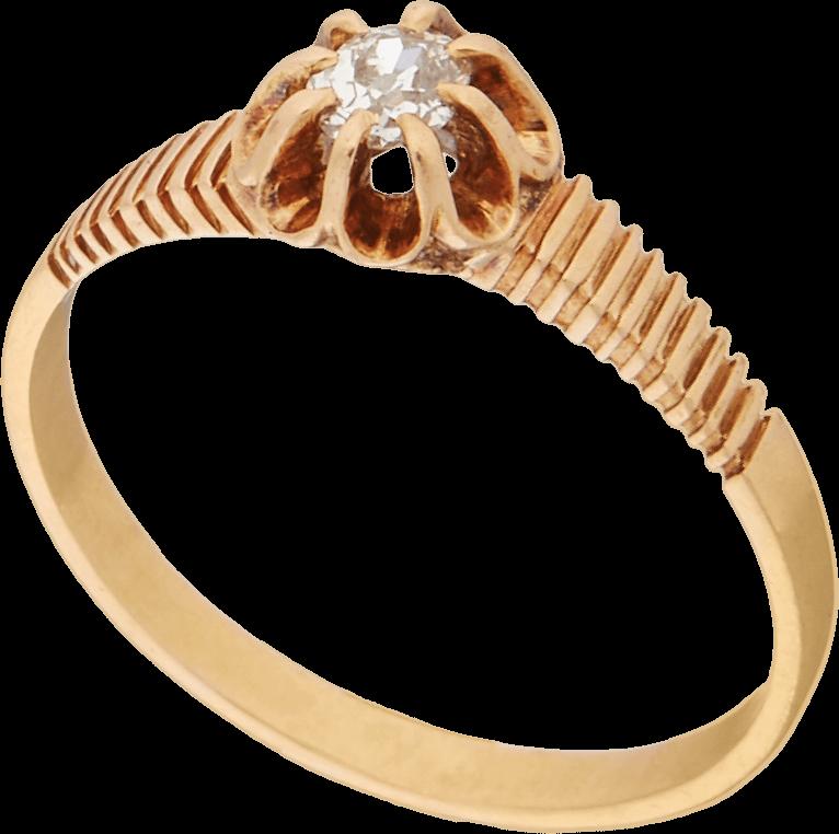 Антикварное кольцо с бриллиантом