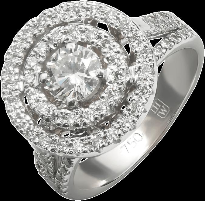 Кольцо с бриллиантами под HW
