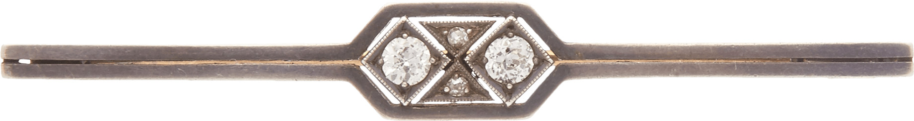 Антикварная брошь с бриллиантами