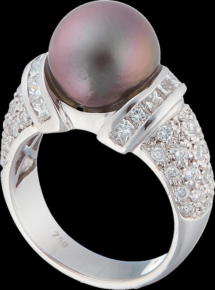 Гарнитур с бриллиантами и жемчугом