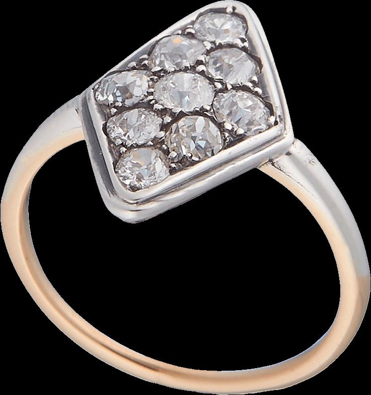 Антикварное кольцо с бриллиантами