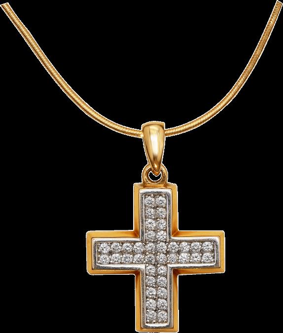 Крест на цепи с бриллиантами