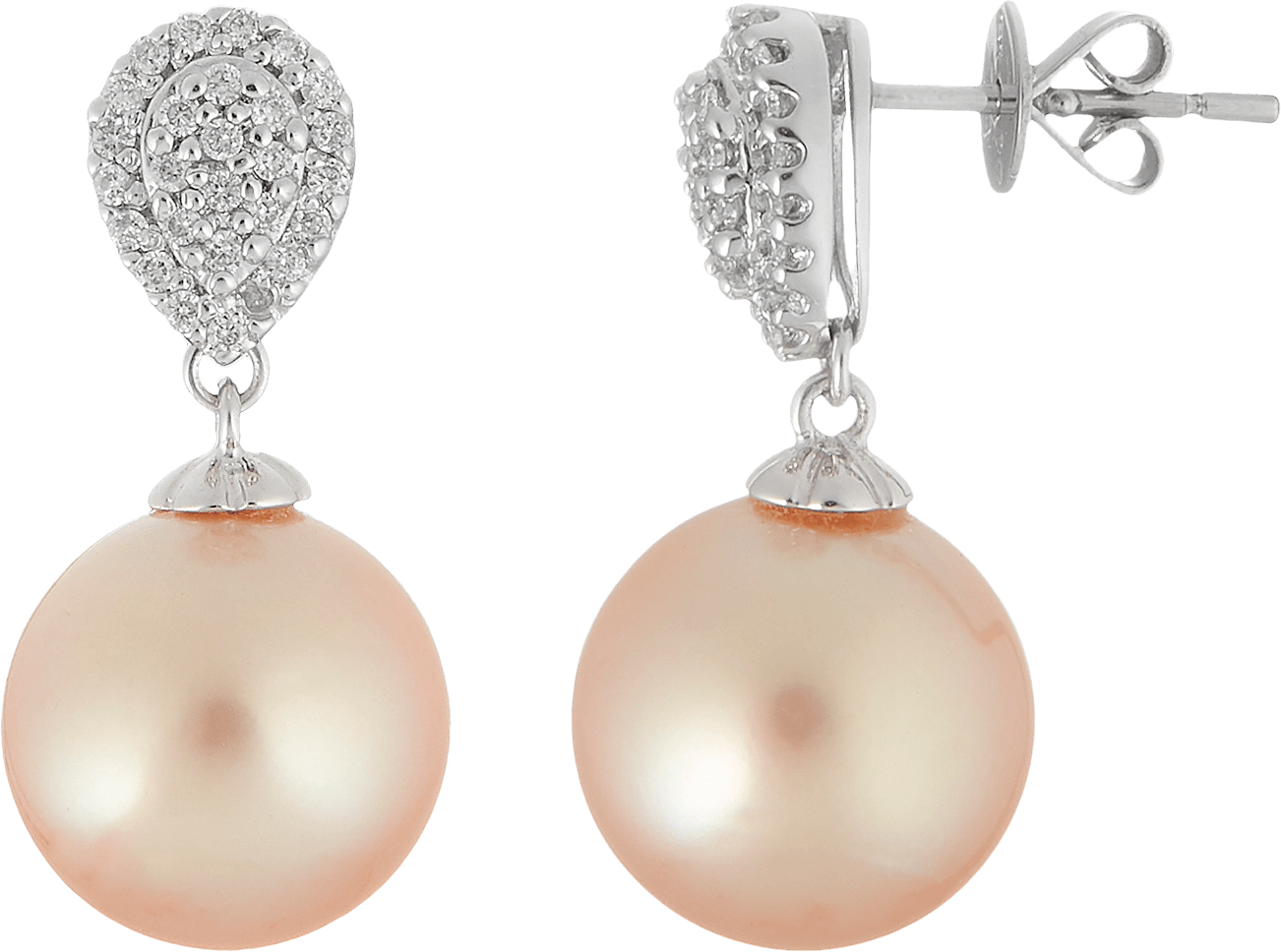 Гарнитур с жемчугом и бриллиантами